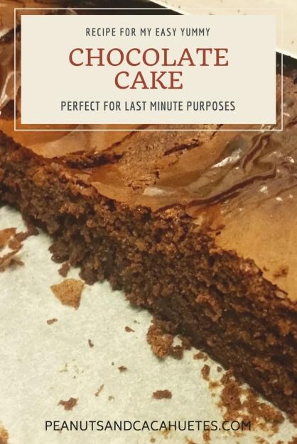 My easy yummy recipe for chocolate cake