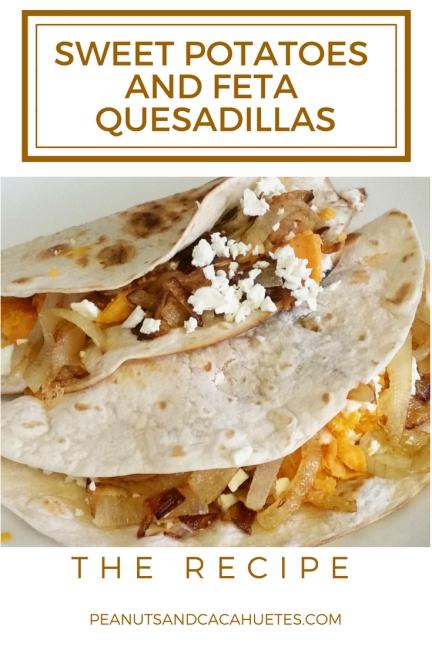 Sweet potatoes and feta quesadillas recipe
