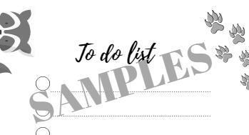 Sample to-do list animals