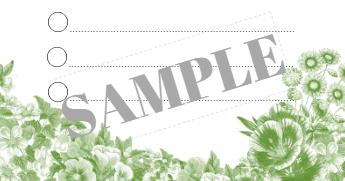 Sample to-do list flowers green