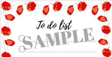 sample to do list flowers