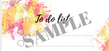 Sample to do list paint