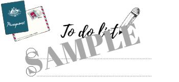 Sample to do list travel