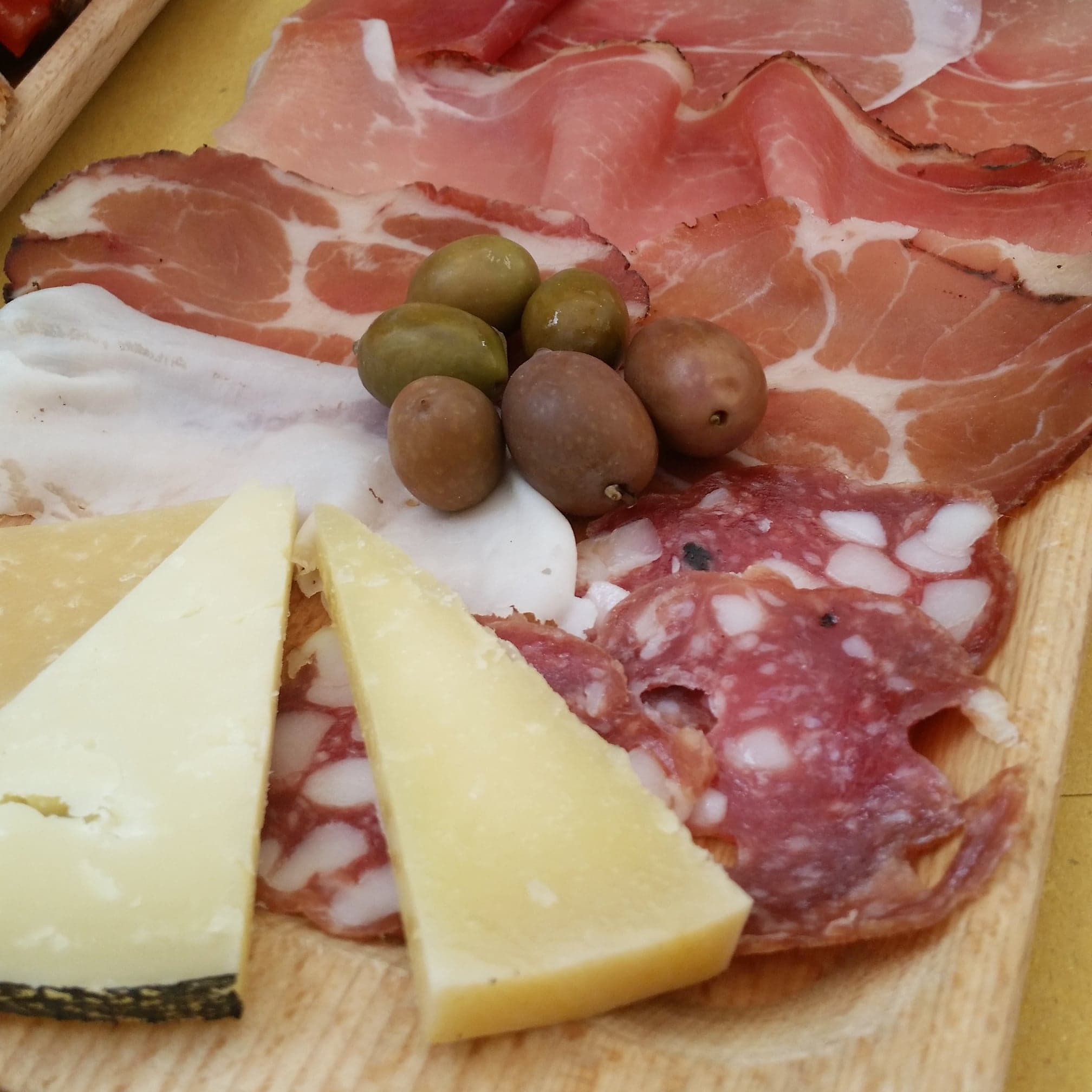 Antipasti - cheese and cold cuts platter