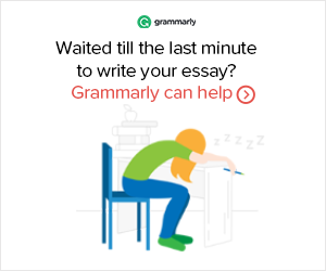 Grammarly - last minute essay - grammar checker