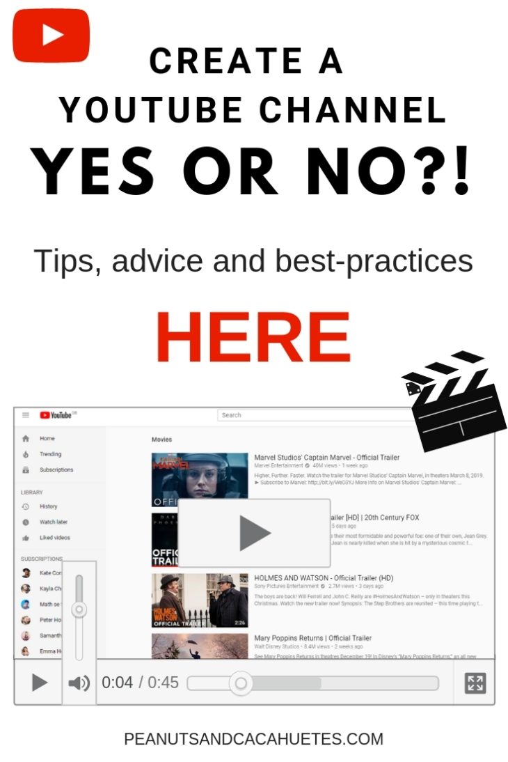 Create a youtube channel - yes or no