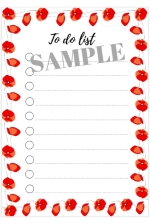 FREE printable to-do list flowers - freebie