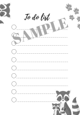 FREE printable to-do list animals - freebie