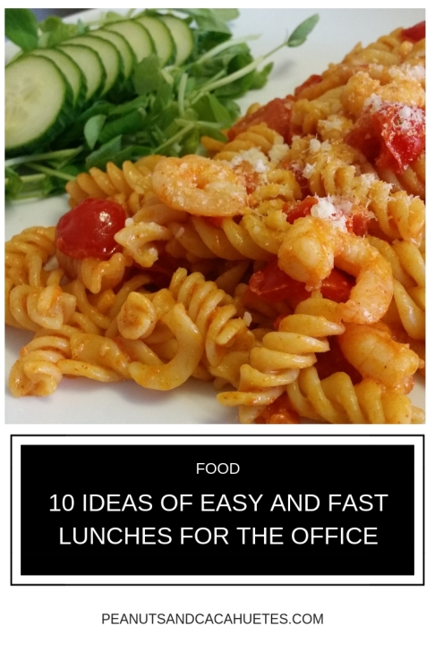 10 ideas of easy and fast lunches for the office - Pasta